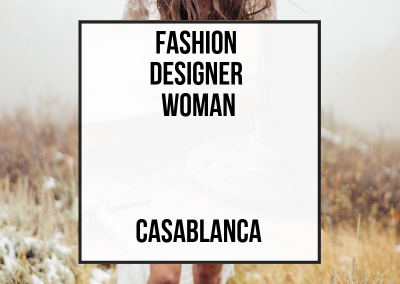 Fashion Designer Woman – Casablanca